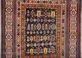 19th Century Shirvan Chi-Chi Rug ıt's in perfect condition untouched one.Size 132 × 151 cm