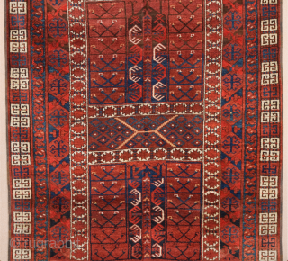 19th Century Ersari Engsi Rug.It's in perfect condition and untouched one.The colors are perfect.Size 128 x 180 Cm