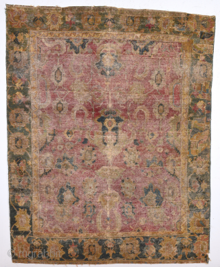 17th Century Isfahan Fragment size 130x165 Cm