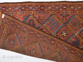 Mid 19th Century Beshir With Great Ikat Design.Untouched One.Completely Original.Size 135 x 250 Cm
