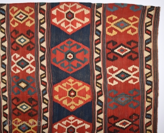 19th Century Caucasian Kilim 195 260 Cm