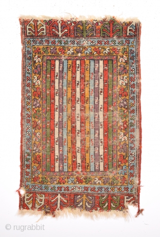 Mid 19th Century Mudjur Yastik Size 54x86 Cm.As Found It.Untouched.