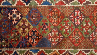 19th Century Really Happy Colorful Unusual Nord-West Rug.It Has Perfect Pile Untouched One.Size 90 x 505 Cm