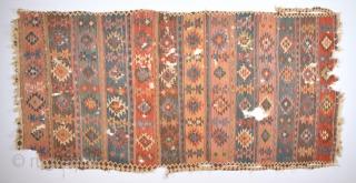 Early 19th Century Unusual Shahsavan Kilim Size 154 x 330 Cm