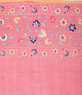 19th Century Indian Textile Size 70 x 128 Cm