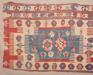 18th Century Central Anatolian Kilim Fragment Size 105 x 165 Cm
