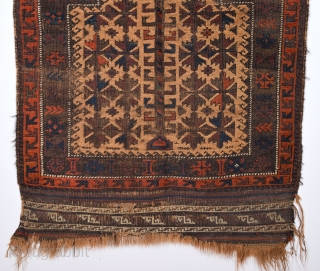 19th Century Belüch Prayer Rug Size 75 x 94 Cm.As Found It.Completely Original Untouched One.