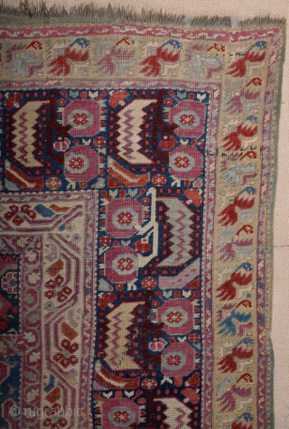 Circa 1800s Anatolian Gördes Prayer Rug.It has fantastic fine thin quality earlier piece then in this group.Size 145 x 220 cm It has many Lazy lines.