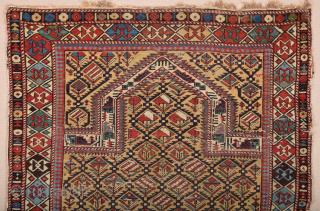 Late 19th Century Shirvan Prayer Rug Size 112 x 135 cm