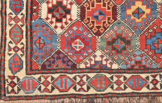 Colors ! 19th Century Shahsavan Reverse Sumac Size 49 x 50 cm