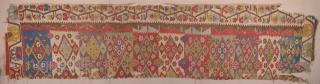 Early 19th Century Anatolian Konya Kilim Fragment inexpensive one Size 92 x 400 cm
