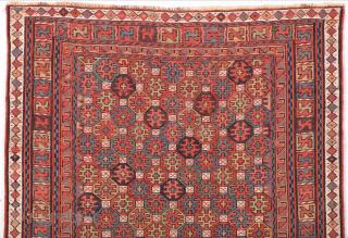 Really Fine Shahsavan Sumak Circa 1860s size 49 x 54 cm
