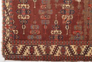 Early Yomud Kepse Gul Main Carpet circa 1800 size 164 x 241 cm