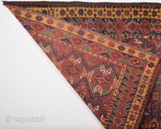 19th Century Turkmen Beshire Fragment size 154 x 192 cm inexpensive one.
