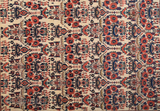 19th Century White Ground Persian Avshar Rug Size 143 x 183 cm all the colors are naturel and untouched inexpensive one.