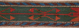 Mid 19th Century Colorful Central  Asian may Persian Band size 9 x 725 cm