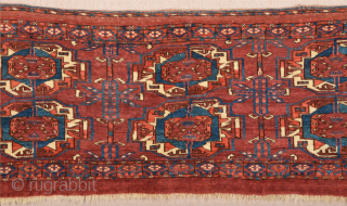 Middle of the 19th Century Lovely Tekke Torba ıt's in perfect condition and all sides are original Size 40 x 108 cm