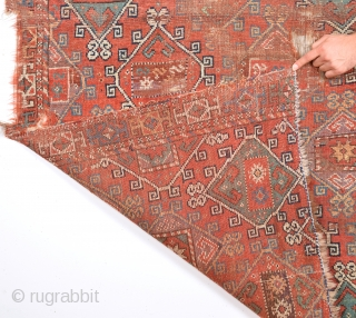 Really Unusual Early 18th Century Anatolian Rug Fragment Size 120 x 170 Cm