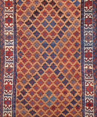 19th Century Baluch Rug It's in Really Good Condition.All The Colors Are Natural.Even Has Original Kilim Ends.Size 80 x 160 Cm.Untocuhed one symmetric knotted.