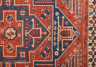 Early 19th Century Anatolian Bergama Rug.It's in Good Condition and Early Type one.Size 145 x 205 Cm