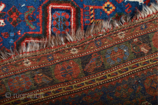 Late 19th Century Persian Khamseh Rug Excellent Condition Untouched Piece Size 160 x 200 cm