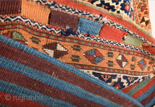 19th Century Kurdish Colorful Bag It's in Perfect Condition Untouched One Size 52 x 63 cm