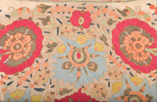 18th Century Ottoman Greek Textile Size 50 x 70 cm ıt has methal in side.