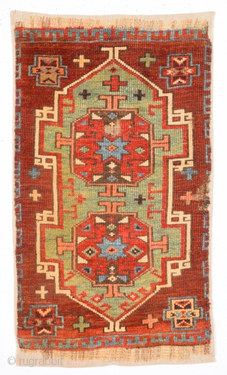 Circa 1800s Central Anatolian Probably Konya Karapınar Area Unusual Yastık.It's in Perfect Condition and Mounted Already Size  43 x 70 Cm