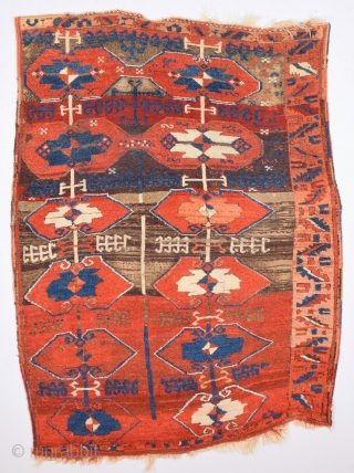 Circa 1800s Or Little More Early Central Anatolian Probably Konya Unusual Village Type Rug With Yoruk Design.The Selvedges And Ends Complatly Original And Untouched One.Size 115 x 155 Cm.Collectible Piece