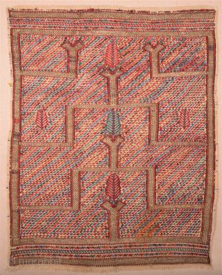 Mid 19th Century Anatolian Keçimuhsine Kilim Cicim Size 112 x 142 cm