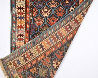 19th Century Really Colorful Schirvan Kuba Rug.It's in Good Condition And Has Good Tihn qualty.Size 93 x 137 Cm
