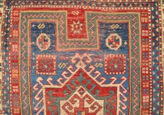 19th Century Caucasian Fahrola Rug 107 x 143 Cm. Reasonable One.