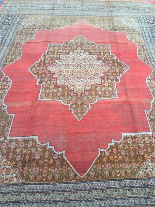 19th Century Persian Probably Tebriz Area Large and  Decorative Piece.Size 280 x 377 Cm Reasonable One.