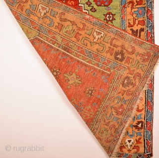 Circa 1780s-1800s Central Anatolian Prayer Rug Size 125 x 150 Cm It Has Only Few Old Restoration Not Much.Expensive One.Please Ask For The Whole And More Detail images.