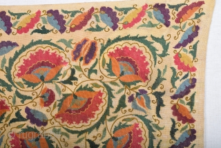 19th Century Beauty Small Suzani or Turkish Textile Size 36 x 80 Cm