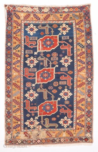 19th Century Caucasian Karagasli Rug.It Has Good quality and all the colors are perfect.Size 92 x 144 Cm