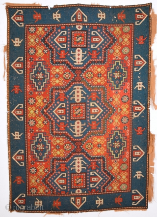 Circa 1900s needle point rug size 130 x 190 Cm.It's in realy good condition and reasonable one.