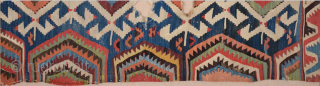 18th Century An Unusual Central Anatolian Probably Konya Area Kilim Fragment 80 x 180 cm