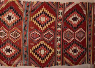 Early 19th Century Konya Karapınar Kilim Size 167 x 363 cm