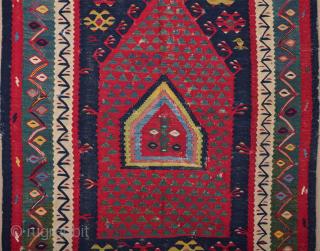 19th Century Anatolian Sharköy Kilim Size 108 x 150 cm It's in good condition.