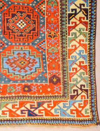 Middle of the 19th Century Persian Rare North-West Colorful Rug Size 117 x 214 cm It has great colors and rare border.