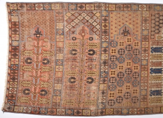 18th Century Khotan With Saph Design.It Has Perfect Colors Size 107 x 290 Cm Completely Original Untouched One.