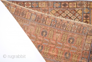 18th Century Khotan With Saph Design.It Has Perfect Colors Size 107 x 290 Cm Completely Original Untouched One.