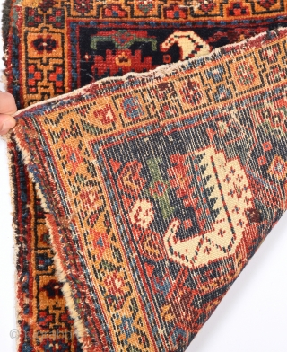 Circa 1860s Persian Kurdish Bag Size 54 x 54 Cm.It Has Nice Details.