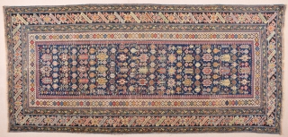 19th Century Caucasian Chi-Chi Rug.It Has Great Colors.Size 130 x 275 Cm