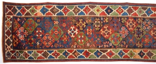 19th Century Really Colorful Unusual Nord-West Rug.It Has Perfect Pile Untouched One.Size 90 x 505 Cm