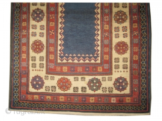 "Talish Caucasian circa 1870 antique. Collector's item, Size: 218 x 108 (cm) 7' 2"" x 3' 6""  carpet ID: K-3617