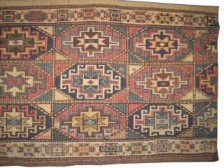 "Moghan Caucasian circa 1905 antique. Collector's item, Size: 114 x 49 (cm) 3' 9"" x 1' 7""  carpet ID: A-298