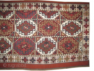 "Moghan Caucasian circa 1905 antique. Collector's item. Size: 106 x 55 (cm) 3' 6"" x 1' 10""  carpet ID: A-305