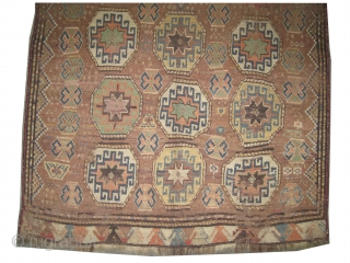 "Gutschan Kurd Persian circa 1900 antique. Collector's item, Size: 265 x 142 (cm) 8' 8"" x 4' 8""  carpet ID: K-2696